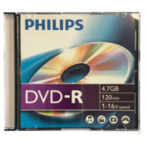DVD lemez Philips 4,7GB slim műanyag tokos